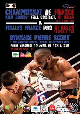 affiche championnat france k1 2016